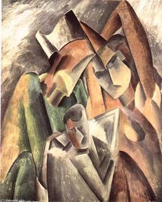 'Arlecchino e la sua famiglia', olio di Pablo Picasso (1881-1973, France)