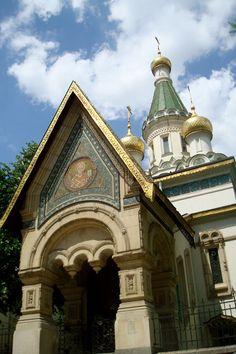 Болгария   Русская православная посольская церковь Св. Николая Чудотворца в Софии. Построена в 1914 году.