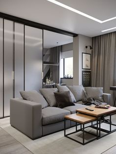Living Room Modern, Home And Living, Living Room Designs, Living Room Decor, Small Apartment Design, Small Apartments, Online Interior Design Services, Interior Exterior, House Rooms