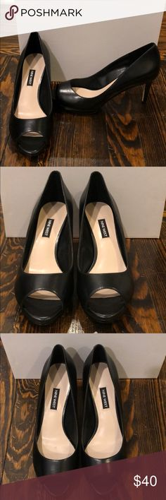 8ed54d55a68 Nine West peep toe pump BRAND NEW Leather Synthetic sole Heel measures  approximately Platform measures about Nine West Shoes Heels