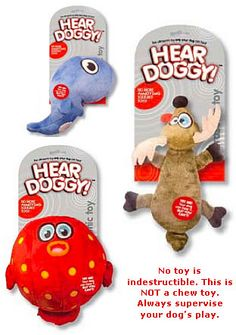 Ultrasonic dog toys, only they can hear them squeak! Pretty cool..