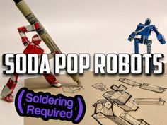 I love this: Recycled Robot Action Figures! by Apollo Crowe Paper Robot, Paper Toys, Paper Crafts, Desktop Cnc, Recycled Robot, Machining Process, Robot Parts, Metal Robot, Colorful Drinks