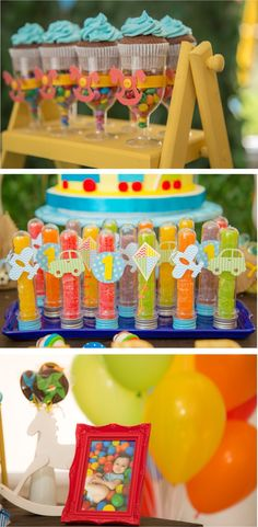 Festa Infantil - Brincadeira de criança - Por Cristina Boross - Blog Festa de menino Boys First Birthday Party Ideas, Baby Birthday, Birthday Party Decorations, Party Themes, Transportation Birthday, Toy Story Party, Baby Shower, Baby Party, Mini Pizzas
