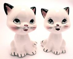 Cute kitty salt and pepper shakers!
