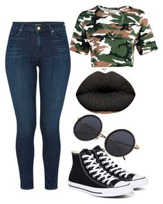 """""""Saucyyy!"""" by cocaineecup ❤ liked on Polyvore featuring J Brand, Boohoo, Converse and Michael Kors"""