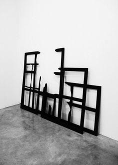 John Cornu | Macula, 2013 / Bois, peinture acrylique et cirage - Not Burnt but looks that way.