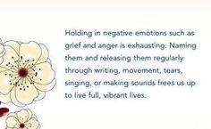 holding on to negativity..........