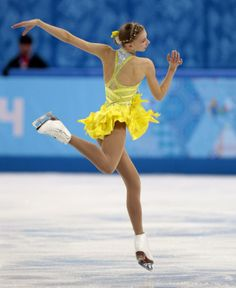 Polina Edmunds of the United States competes in the women's short program figure skating competition at the Iceberg Skating Palace during th...