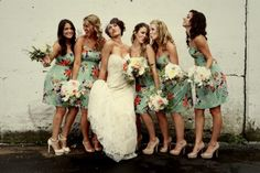 olive vintage bridesmaid dresses | vintage chic floral bridesmaids dresses by Moulinette Soeurs from ...