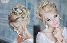 . Prom Hair Updo, My Hairstyle, Hair Dos, Wedding Hair Up, Wedding Updo, Bridal Hair, Formal Hairstyles, Bride Hairstyles, Messy Hairstyles