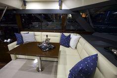 #saloon #seating #maritimo #m48 #ngt15 #oceansapart #elegant #motor #yacht #boat #2016 #wenge #flow