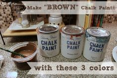 Nancy of Artsy Chicks Rule shares how she makes the color brown with Chalk Paint® decorative paint by Annie Sloan using Barcelona Orange, Primer Red & Aubusson Blue.