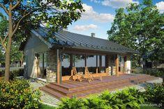 Projekt domu AT Ricardo Sz CE - DOM - gotowy koszt budowy Atrium, Custom Home Designs, Custom Homes, Story House, My House, Bali Style Home, Small Bungalow, House Blueprints, Design Case