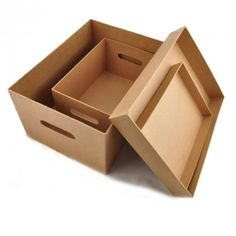 Stapelbox aus Pappe 2-teilig