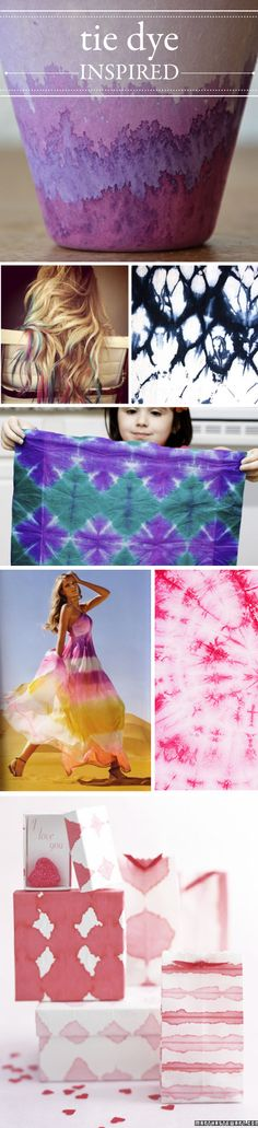 i think i tie-dyed once in 6th grade.  these are so pretty, i might want to try again!