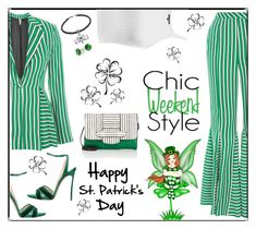 """Happy St. Patrick's Day!"" by outfitsloveyou ❤ liked on Polyvore featuring Topshop, Casadei, Michino, Insignia Collection and Bling Jewelry"