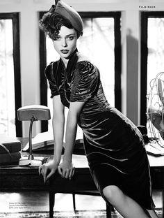 coco film noir4 Coco Rocha Models New Haircut in Film Noir Shoot for Stylist Magazine