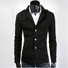 Men 's Casual Blazer with Mandarin Collar $49.95