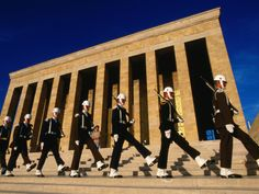 Changing of the Guard, Ataturk's Mausoleum, Ankara, Turkey (Ataturk is the Father of modern-day Turkey. He brought the Turks out of the Ottoman Empire; and is greatly revered.)
