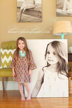 "We love Marsha, the owner of ""The Savvy Photographer,"" and her daughter is just gorgeous!  And this huge 30x40 really makes a statement, and yes Pro Digital Photos can print this big. :)  http://thesavvyphotographer.blogspot.com/"