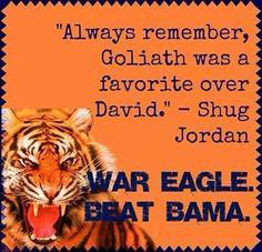 God loves underdogs Sec Football, Auburn Football, Watch Football, Auburn Tigers, Clemson, Iron Bowl, Funny Tattoos, Auburn University, Arkansas Razorbacks