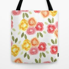 Vintage Florals Tote Bag by Bouffants and Broken Hearts - $22.00