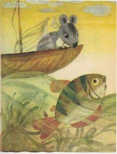 Illustration by Maria Mackiewicz; Author: Adam Bahdaj; Title: Podróż w nieznane