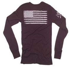 Men's Old Glory Long Sleeve Thermal (Cranberry)