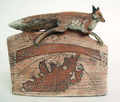 The Clever Fox Carnivorous Animals, Fox Art, Red Fox, Ceramic Art, Sculpture Art, Clever, Folk, Porcelain, Ceramics