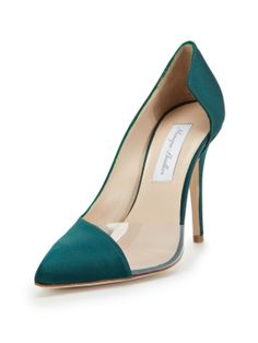Satin Pointed-Toe Pump by Monique Lhuillier at Gilt