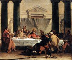 Giambattista Tiepolo (1696-1770) : la dernière Cène. 1745. Huile sur toile, 81 x 90 cm. Paris, Musée du Louvre.