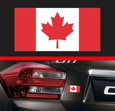 4 Canadian Flag Sticker Vinyl Decal Maple by SkyhawkStickerDepot