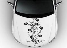 Decals For Your Car Beautiful Flower Full Body Car Decal Sticker - Custom vinyl car hood decalscar side and hood decal custom body vinyl sticker urban geometric