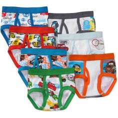 Disney Toddler Boys' Cars Favorite Characters Underwear, 7-Pack, Toddler Boy's, Size: 2-3T, Assorted