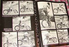 Vintage magazine featuring some sweet stunts by Debbie Evans