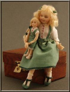 Heverbell Miniatures • Costumed Child Dolls • Porcelain Dolls - Costumed & Kits / Trims & Fabrics