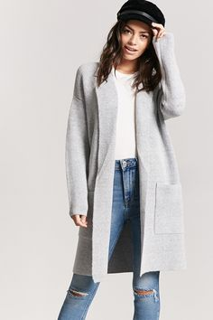 fa726d83464 Product Name Open-Front Longline Cardigan