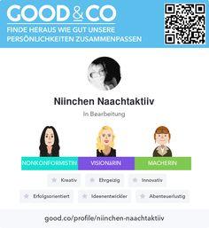 Good&Co-Profil für Niinchen Naachtaktiiv Cos, Shopping, Adventure, Funny, Creative