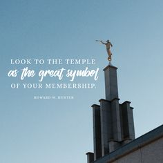 """""""Look to the temple as the great symbol of your membership."""" -Howard W. Hunter LDS Quotes #lds #mormon #christian #sharegoodness #armyofhelaman #helaman #ldstemple #temples Temple Quotes Lds, Temple Lds, Church Quotes, Mormon Quotes, Lds Mormon, Lds Quotes, Lds Scriptures, Temple Pictures, Saint Quotes"""