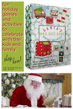 This is our Santa's Mail Dice Game. Christmas is all about the fun! If you need Fun Holiday Games and Activities then this Dice Game will help you celebrate with your kids. This Fun Activity for Kids can be played at the table and will help you start some new Christmas Traditions. This also makes a fun Christmas Class Party Idea too! #christmasgames #familyactivities #classroom #xmas #christmas #familygames