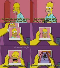 Image discovered by JcB. Find images and videos about the simpsons on We Heart It - the app to get lost in what you love. Meme Dos Simpsons, Simpsons Frases, Simpsons Art, Wtf Funny, Funny Memes, Otaku Meme, Best Memes, Movie Quotes, Funny Photos