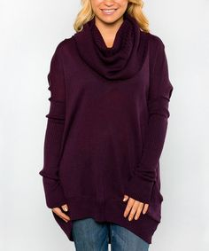 Another great find on #zulily! Plum Alta Cowl Neck Sweater by White Plum #zulilyfinds