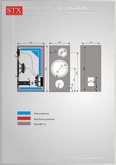 Schemat STX MX-140-Diy Speaker Plans, Diy Speakers, Speaker Design, Hifi Audio, Audiophile, Diy And Crafts, Technology, How To Plan, Phone