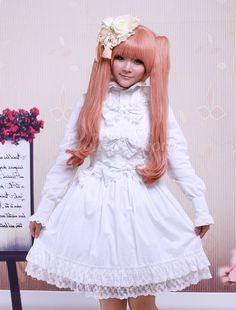 Sleeveless Lace Lolita Dress with Bow Decor - Lolitashow.com