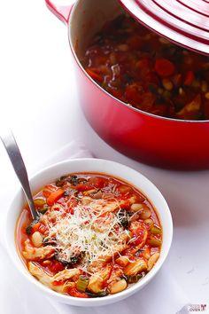 Tomato Basil Chicken Stew | gimmesomeoven.com