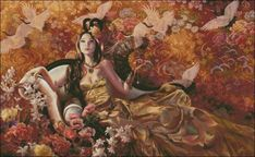 Sunsout Puzzles, Earth Design, Garden Items, Heaven On Earth, Limited Edition Prints, Geisha, 1000 Piece Jigsaw Puzzles, Fantasy Art