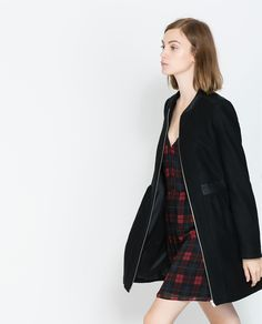 ZARA - TRF - WOOLLEN COAT WITH COMBINATION DETAIL