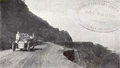 Aspecto da Estrada de Vergueiro, de São Paulo a Santos, à altura da Serra do Mar, em 1918