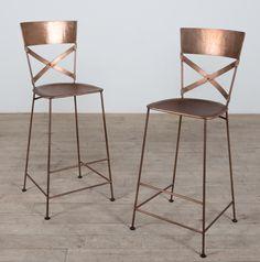 Copper bar stools.
