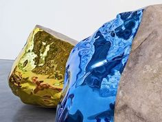 Jim Hodges, Untitled, 2011, granite, stainless steel and lacquer, photo by David Regen